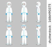 set of doctors character... | Shutterstock .eps vector #1686490375