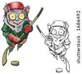animal hockey mascot. great for ...   Shutterstock .eps vector #1686492