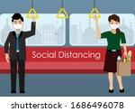 social distancing.passenger in... | Shutterstock .eps vector #1686496078