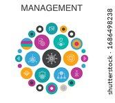 management infographic circle...