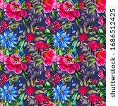 watercolor seamless pattern... | Shutterstock . vector #1686512425