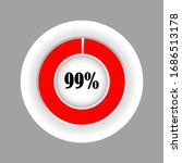 red color circle percentage...