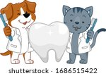 illustration of a dog and cat... | Shutterstock .eps vector #1686515422