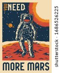 colorful vintage mars... | Shutterstock .eps vector #1686526225
