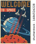 colorful space vintage template ...   Shutterstock .eps vector #1686526228