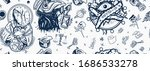 coronavirus seamless pattern.... | Shutterstock .eps vector #1686533278
