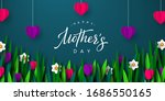 happy mothers day poster. 3d...   Shutterstock .eps vector #1686550165