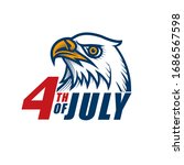 4th of july label design.... | Shutterstock .eps vector #1686567598