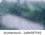 Rain Drops During Raining In...