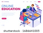 online education or distance... | Shutterstock .eps vector #1686641005