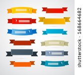 colorful retro ribbons  labels... | Shutterstock .eps vector #168664682