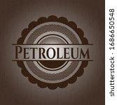 petroleum wooden emblem. retro. ... | Shutterstock .eps vector #1686650548
