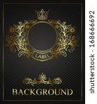golden emblem cartouche. ... | Shutterstock .eps vector #168666692