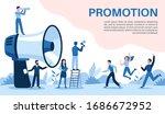 promotion with megaphone. big... | Shutterstock .eps vector #1686672952