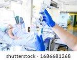 Nurse Is Preparing Intravenous...