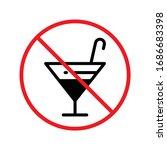 forbidden alcohol vector icon.... | Shutterstock .eps vector #1686683398