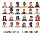 set of persons  avatars  people ... | Shutterstock .eps vector #1686689635