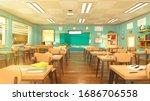 Empty School Classroom In...