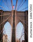 Mesh On Brooklyn Bridge