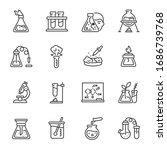 chemistry. chemical laboratory  ... | Shutterstock .eps vector #1686739768