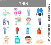 thin flat icon set on theme... | Shutterstock .eps vector #1686746092