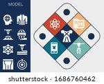 model icon set. 13 filled model ... | Shutterstock .eps vector #1686760462