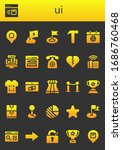 ui icon set. 26 filled ui icons....