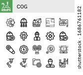cog simple icons set. contains... | Shutterstock .eps vector #1686761182
