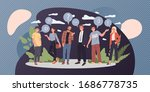 group of young people talking... | Shutterstock .eps vector #1686778735