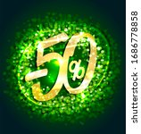 sale up to 50  off  banner with ... | Shutterstock . vector #1686778858