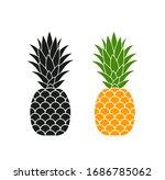 pineapple logo. isolated... | Shutterstock .eps vector #1686785062
