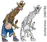 giraffe basketball mascot for... | Shutterstock .eps vector #1686786