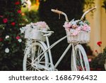 Close Up Of White Bicycle In...