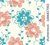floral seamless pattern or...   Shutterstock .eps vector #1686827002