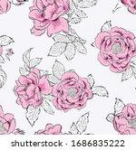 Flower Seamless Pattern. High...