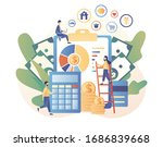 personal financial control.... | Shutterstock .eps vector #1686839668