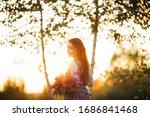 outdoor portrait of a beautiful ... | Shutterstock . vector #1686841468