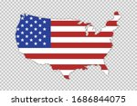usa map with flag and shadow on ...   Shutterstock .eps vector #1686844075