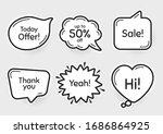 comic chat bubbles. sale  50 ...   Shutterstock .eps vector #1686864925