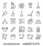 cleaning service. outline clean ...   Shutterstock .eps vector #1686871675