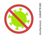 stop covid 19 icon. vector... | Shutterstock .eps vector #1686878188