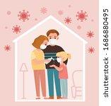 family members protect...   Shutterstock .eps vector #1686880495