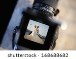 shooting a wedding with a... | Shutterstock . vector #168688682