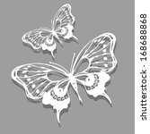 Stock vector butterflies design 168688868