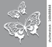 Stock vector butterflies design 168688868