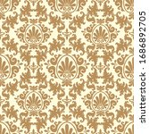 damask flower pattern in vector ... | Shutterstock .eps vector #1686892705