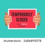 information warning temporarily ... | Shutterstock .eps vector #1686895078