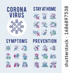 coronavirus symptoms and... | Shutterstock .eps vector #1686897538