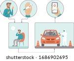 coronavirus covid 19 drive...   Shutterstock .eps vector #1686902695