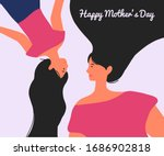 mother and daughter background... | Shutterstock .eps vector #1686902818